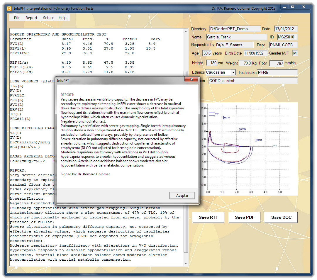Figure 7: Exporting report text